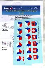 KOPRO DECALS 0376 - 1/48 CZECH & SLOVAK NATIONAL INSIGNIA - NUOVO