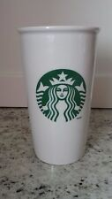 2011 STARBUCKS Mermaid LOGO 12 oz Stoneware Mug COFFEE TO GO Travel Cup SIP LID