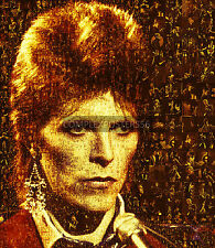 LARGE PHOTO MOSAIC POSTERS IN VARIOUS COLOURS - DAVID BOWIE No 25