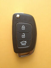Flip Remote Key Shell Case replacement For Hyundai 3 buttons