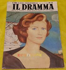 IL DRAMMA 1958 n. 263-264 - Copertina Carlo Guarienti - Opere: vedi inserzione