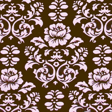 "ROBERT KAUFMAN ""PIMATEX BASICS"" DAMASK Chocolate by yard"