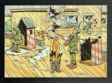 Künstler AK - Humor AK: Soldat auf Wache / sign. Mazel