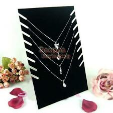 Hot Black Velvet Jewellery Necklace Chain Pendant Display Show Holder Stand