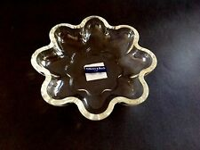 Modernist Villeroy and Boch Crystal Flower Bowl - Still has tags! Wedding Gift!