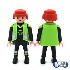Playmobil ® déchets   recyclage   débardage personnage: éboueur   conducteur camion