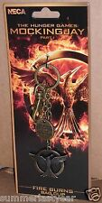 "THE HUNGER GAMES: MOCKINGJAY PART 1 ""Fire Burns"" KEY CHAIN & BAG CLIP NECA"