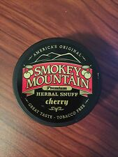 Smokey Mountain Snuff CHERRY FLAVOR Tobacco & Nicotine Free NEW 1 CAN Chew