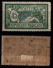 MERSON 45c vert TB Centré, Neuf * = Cote 61 € / Lot Timbre France n°143