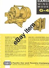 CARCO Winch Model G-4 Brochure for Allis Chalmers HD-16 crawlers
