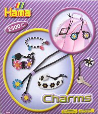HAMA MIDI BEADS REF 3228 - CHARMS GIFT SET WITH 2500 BEADS - BRAND NEW!