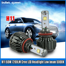 Super Bright V16 Turbo CREE LED Headlight Kit 60W 7200LM/Set H11 H8 2PCS