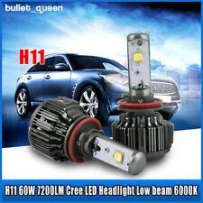 Super Bright V16 Turbo CREE LED Headlight Kit 60W 7200LM/Set H11 H8 2PCS
