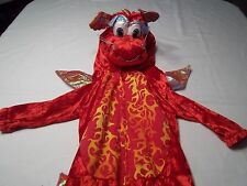 Chinese Dragon Halloween Costume for Toddler 4T Red Fire One-piece Jumpsuit