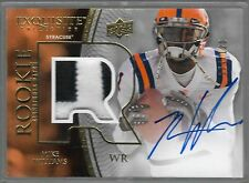 2010 Upper Deck Exquisite Mike Wallace Auto 2 Color Event Used Patch Rc # /120