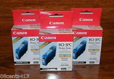 LOT OF 3 Genuine Canon (BCI-3PC) Photo Cyan Ink Cartridge (F47-2211-400) **NEW**