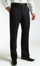 ClubClass Mens Corporate Lisbon Single Pleat Trousers 30R Navy BOX7290 D