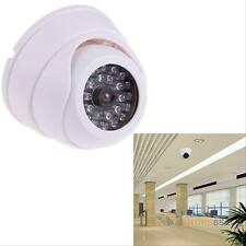 Home/Store Security CCTV Dome Camera 30 LED Light Flashing Red Dummy Fake Camera