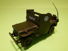 VICTORIA WILLYS JEEP ARMOURED CAR - ARMY GREEN 1:43 - MILITARY - EXCELLENT