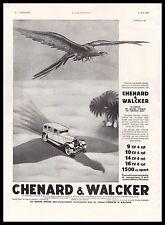 Publicité Automobile Chenard & Walcker car vintage print ad  1930 - 10h