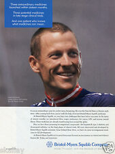 2004 Print Ad of Bristol Myers Squibb Company w Lance Armstrong Tour de France