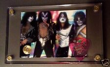 Nice KISS Classic 70's image card / Ace see through pink guitar pick displayf