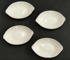 """Lenox Olympia Gold Lot of 4 Personal Oval Ashtrays or Nut Dishes 4"""" Excellent"""