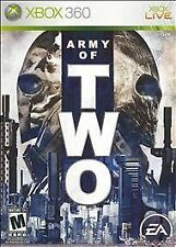 ARMY OF TWO Video Game RATED M XBOX 360