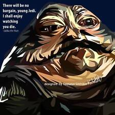 Jabba The Hutt canvas quotes wall decals photo painting framed pop art poster