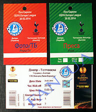 3 ticket Dnipro Dnepr Ukraine TOTTENHAM HOTSPURS England (Press,TV) 2013/2014