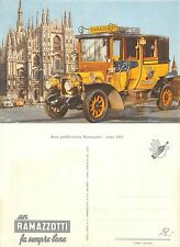 Anni '50-'60 PUBBLICITARIA RAMAZZOTTI auto davanti al duomo di Milano (R-L 104)