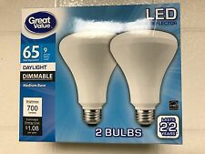 LED BR30 65W = 9W Daylight 65 Watt DIMMABLE 5000K R30 Flood 10-Pack