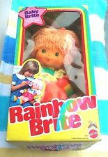 1983 Collect Mattel Rainbow BABY BRITE Doll wBottle 19 Inches Tall New in Box