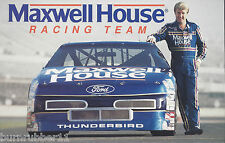 """1991 STERLING MARLIN """"MAXWELL HOUSE"""" #22 NASCAR WINSTON CUP POSTCARD"""