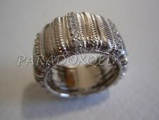 JUDITH RIPKA Sterling Silver 925 DIAMONIQUE CZ Braided Ribbed Ring Size 5.5