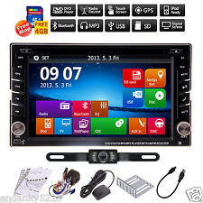 "Reverse Camera+Gps 6.2"" Double 2Din Car Stereo Radio Dvd Cd mp3 Player Bluetooth"