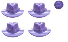 LEGO 4 Purple Fedora Hats Removed from Batman Joker Minifig Keychains
