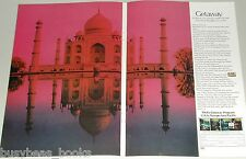 1971 Trans World Airlines 2-page ad, Taj Mahal