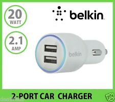 Universal Belkin 2-Port Car Charger 2.1 A for Apple iPhone 5 5S 6 Plus Samsung