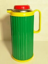 Vintage Colorful CROWN CORNING THERMIQUE Coffee Thermos Pot Server 1 QT CLEAN