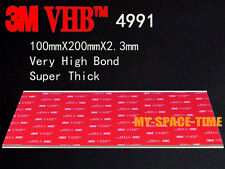 3M VHB 4991 Double-sided Acrylic Super Thick Foam Tape Automotive 100mm X 200mm