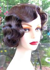 Fingerwave Theatre Wig .. Rose ..Chestnut Brown. NEW! Downton Abbey QUALITY *