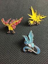 Pokemon Legendary Birds Battle Deck Collector PIN Combo: Moltres/Zapdos/Articuno