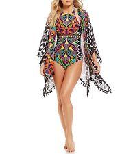 NWT  $148 One Size Trina Turk Africana Kimono Swim Cover