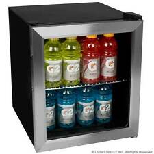 New BWC70SS 62 Can Free-Standing Beverage Cooler Mini Fridge-Stainless Steel