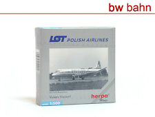 Herpa Wings 1:500 512008 Vickers Viscount LOT Polish Airlines Registration Neu