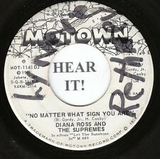 Diana Ross & The Supremes MOTOWN 45 (Motown 1148 DJ) No Matter What Sign You Are