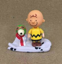 UFS Peanuts Charlie Brown & Snoopy Red Baron 2002 PMI Mini Action Figurines