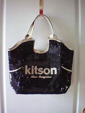 Kitson Black/Gold LA Sequin Tote - Purse