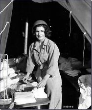 WWII B&W PHOTO PRINT US ARMY NURSE WORLD WAR TWO WW2